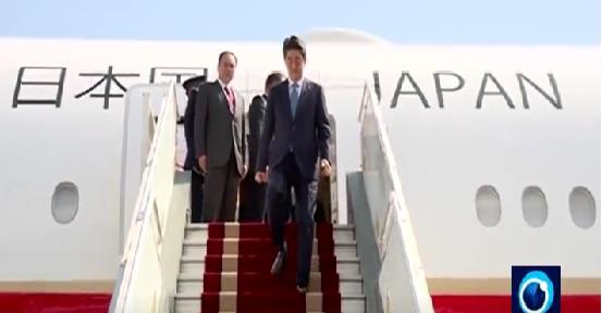Japan's Prime Minister Shinzo Abe  arrived in Tehran 12  Jun 2019, picture taken Presstv